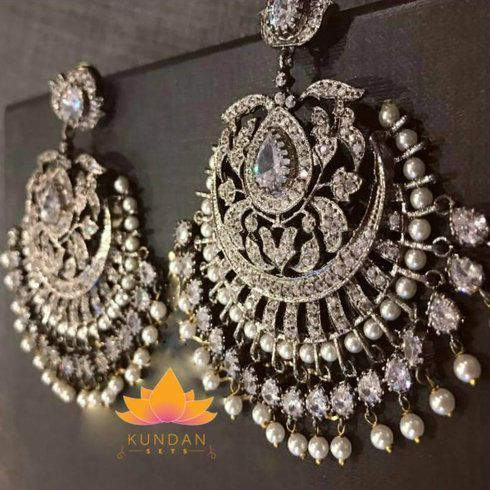 Sabyasachi Inspired Silver Earrings #GoldJewelleryTraditional