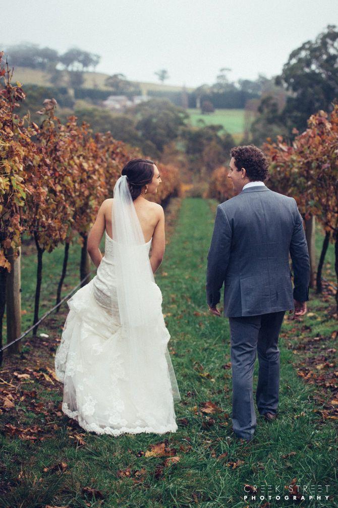 Richard & Lauren among the vines at  Centennial Vineyards