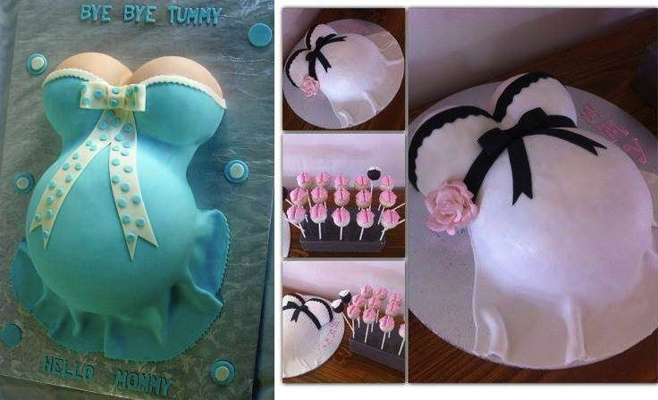 After looking at these beautiful pregnant belly cakes, you might start wishing you were pregnant just so you could have one of these cakes in your baby shower.