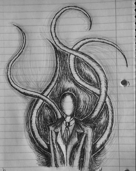 scary drawings creepypasta slenderman creepy easy draw drawing dark horror dessin dibujos cartoon cool slender kunst jack zeichnungen zeichnen skizzen