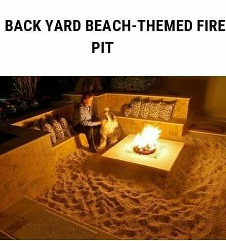Backyard Beach Fire Pit