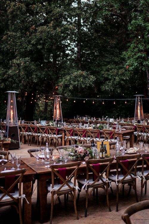 Magical Woodland California Wedding Venue, Sequoia Retreat Center, Art & Soul Events, Nordica Photography, Formal dinner tablescape, cross back chairs