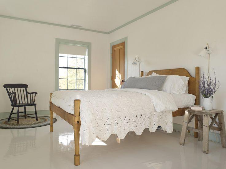 Shaker Style Bedroom. White Glossy Painted Floors   Rafe Churchill: