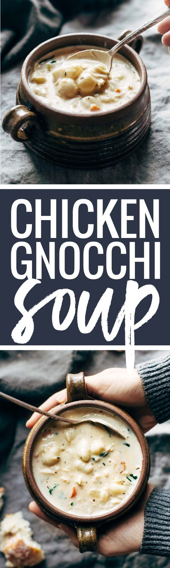 Crockpot Chicken Gnocchi Soup - easy, comforting, lots of vegetables, no heavy cream. A total crowd-pleaser! | pinchofyum.com