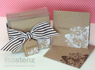 Lisa's Creative Corner made with Kraft cardstock: Mini 3X3 Cards, Cards Mini, Card Ideas, Cards Papercrafts, Paper Crafts