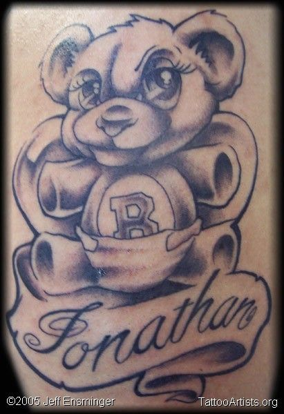 Teddy Bear Tattoos Pictures to pin on Pinterest