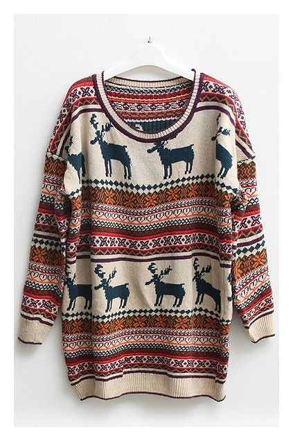 Nordic Print Oversized Knitted Jumper: Fashion, Style, Christmas Outfit, Clothing, Winter Outfit, Christmas Sweaters, Christmasoutfit, Wear, Boots
