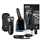 Braun Series 3 ProSkin 3090cc Elektrischer Rasierer mit Reinigungs- und Ladestation Clean & Charge, 100% wasserfester Rasierapparat, wiederaufladbarer Elektrorasierer, schwarz/grau