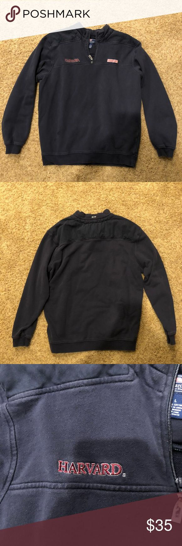 Vineyard Vines Sweatshirt Navy blue vineyard vines sweatshirt. Has a harvard logo because I bought it at the Harvard gift shop. Vineyard vine logo is on the front. It is a large. It works for both a men's and a women's jacket. Vineyard Vines Jackets & Coats