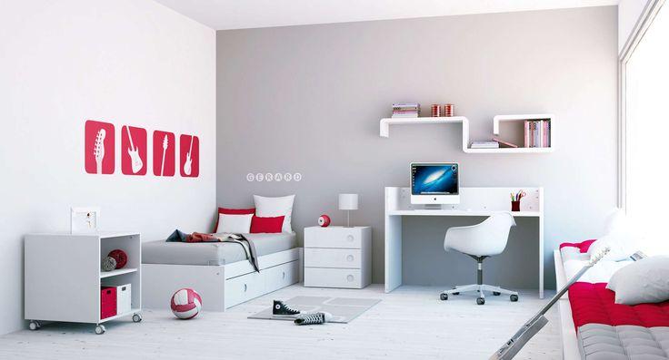 Colección ORBIT Alondra color blanco. Cuna convertible de diseño y moderna para niños y niñas. Te la mostramos en la etapa junior ( +5 años) una completa habitación infantil para que los niños disfruten al máximo de cada día...