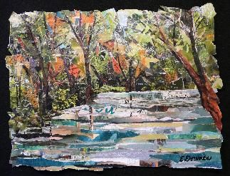 collage landscapes torn paper eileen downes