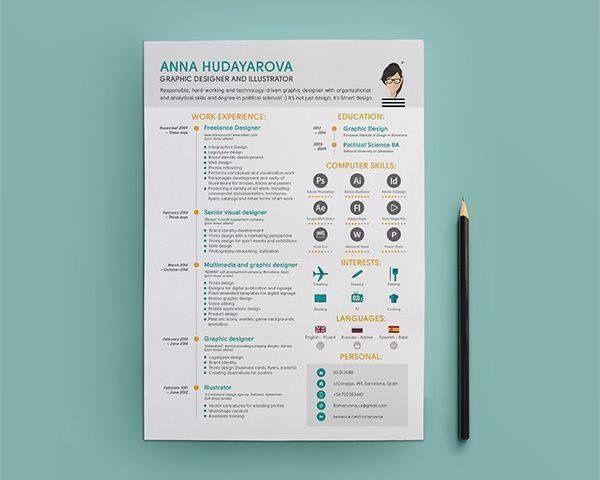 44 best Creative CVu0027s images on Pinterest Resume cv, Resume - freelance graphic designer resume