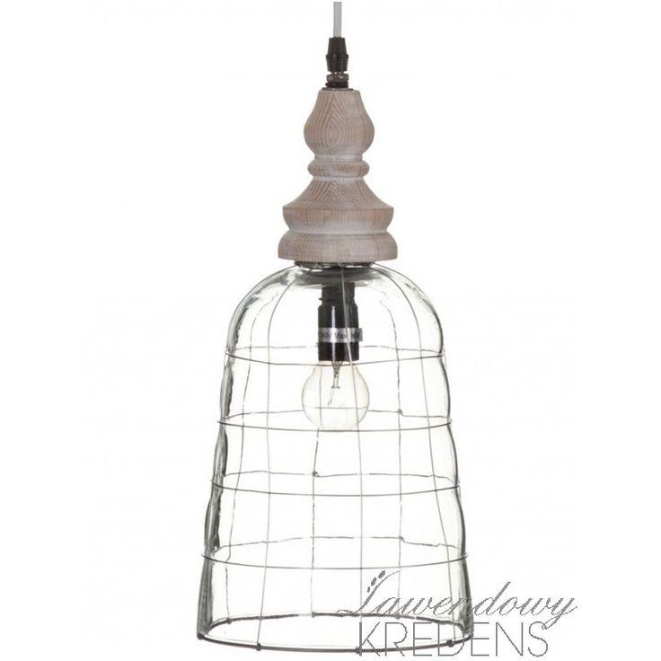 Szklana lampa Aluro rozjaśni wnętrze i doda mu oryginalności! Więcej lamp na www.lawendowykredens.pl
