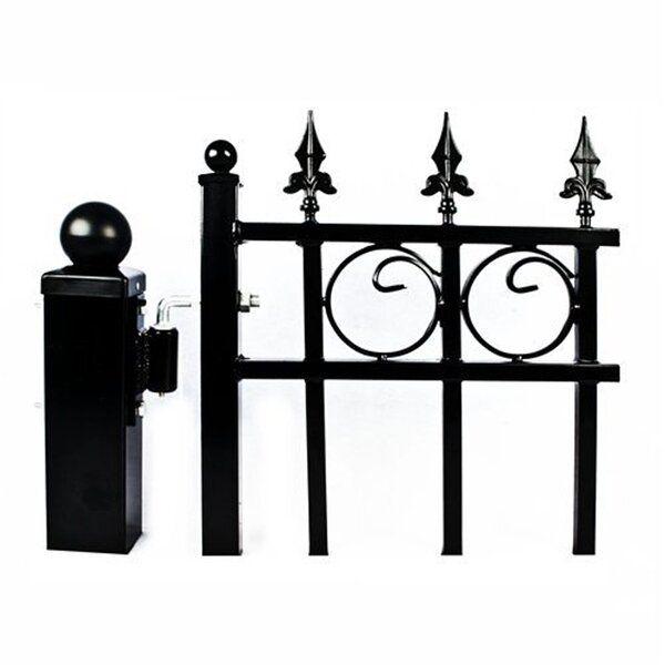 Set Of 2 Post And 4 Hinges For Dual Metal Driveway Gate Metal Driveway Gates Driveway Gate Iron Gate Design