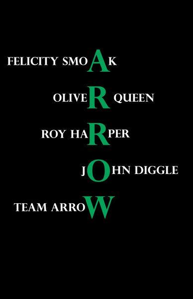 Team Arrow: Felicity Smoak Oliver Queen Roy Harper John Diggle