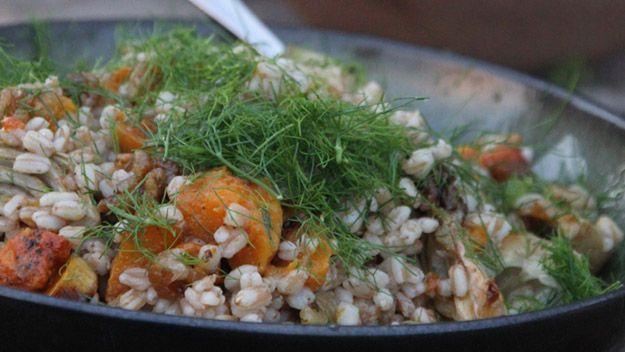 Spelt butternut squash and fennel salad