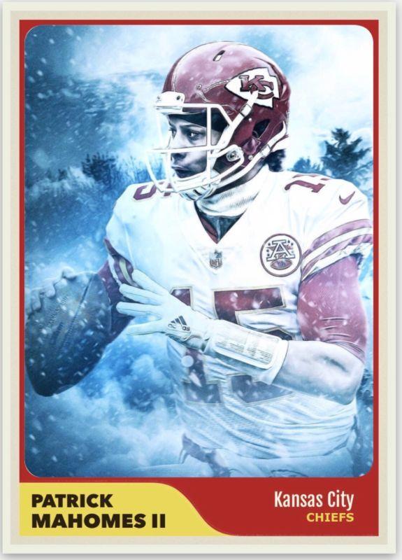 bb726b1f916 Patrick Mahomes Kansas City Chiefs Custom Card NFL QB   Nfl football ...