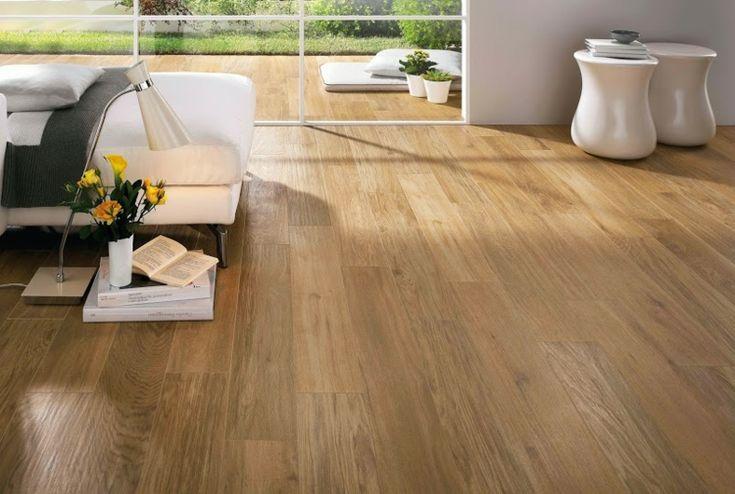 Fliesen für das moderne Wohnzimmer - ansprechende Holzoptik , Eichenholz-Look