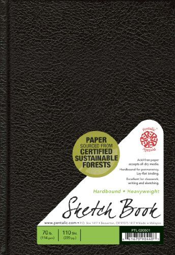 Pentalic Sketch Book, Hardbound, 5-1/2-Inch by 8-Inch *my favorite sketch book! :)