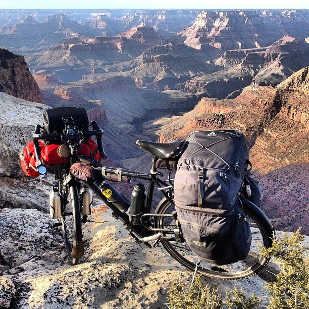 I am: a stealth camper, ultra high on a ridge line in the Grand Canyon. What are you? #bikecamping #bicycletouring, #biketouring, #adventurecycling, #adventure,