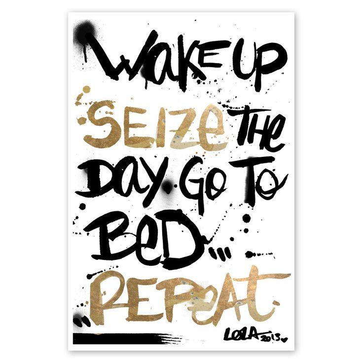 Seize the day | 33x48cm Art Print by Oliver Gal on POP.COM.AU