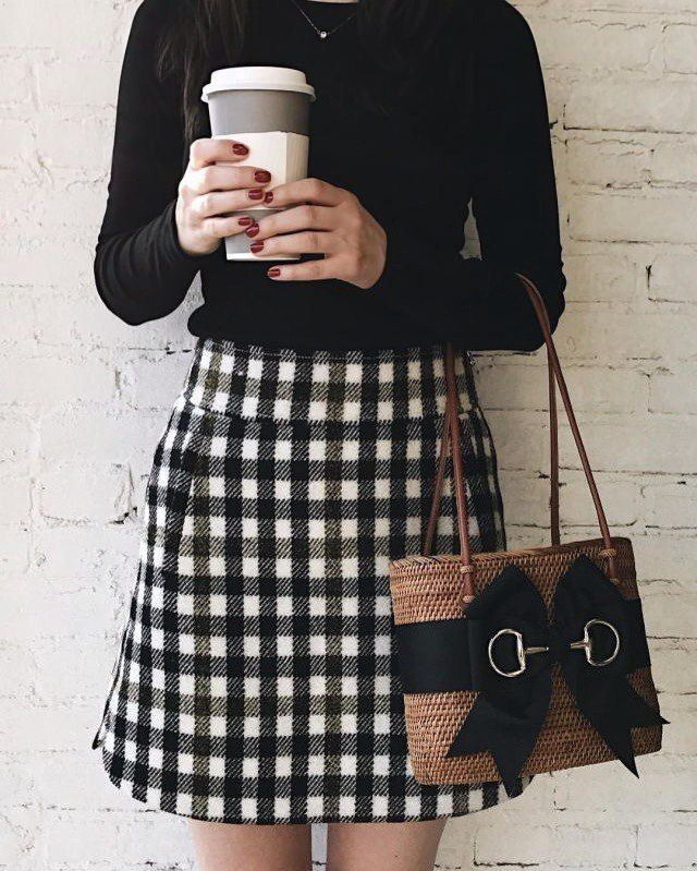 The top and skirt are fantastic...but that purse...oh my, I love it!!!!