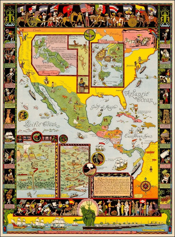 San Jose Monterey Map%0A Spanish Main      pictorial map whimsical POSTER Jo Mora
