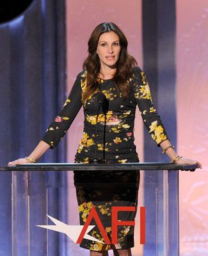 Julia Roberts speaks onstage during the 38th AFI Life Achievement Award honoring Mike Nichols held at Sony Pictures Studios on June 10, 2010 in Culver City, California.
