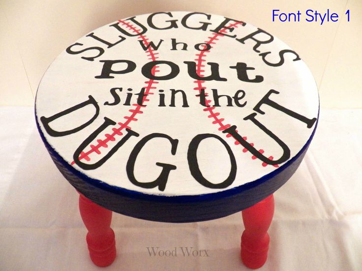 "Handmade Sluggers Who Pout ""Time Out"" Stool - Toddlers - Kids - Hand Painted - by WoodWorxDesigns on Etsy https://www.etsy.com/listing/180465187/handmade-sluggers-who-pout-time-out"
