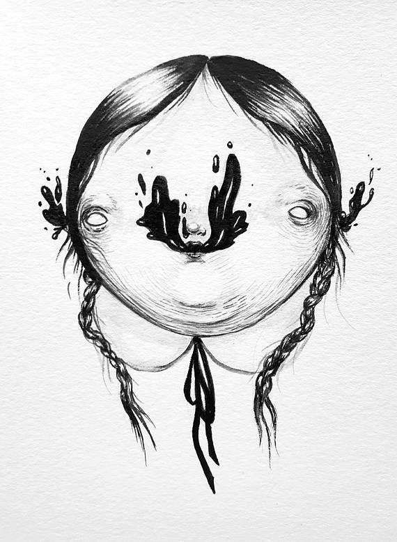Black Ectoplasm  INK Illustration