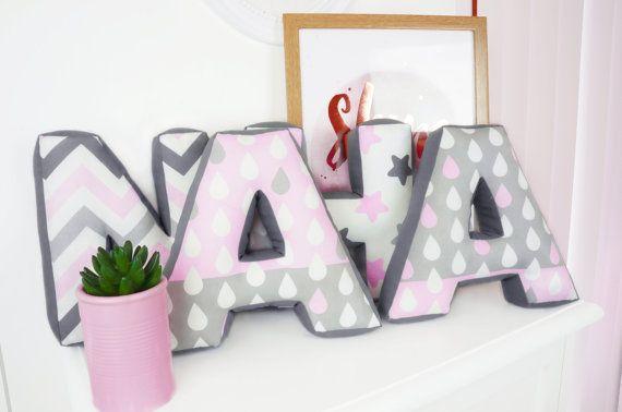 Personalised Letter Pillow (Letter Cushion, Soft Letter, Alphabet Letter Pillow, Initial Letter Pillow, Fabric Letter, Custom girl pillow)
