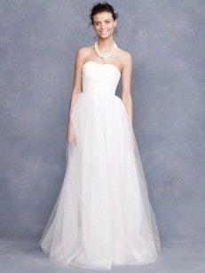 Aライン/プリンセス ベアトップ ラッフルズ 袖なしの フロアレングス チュール ウエディングドレス