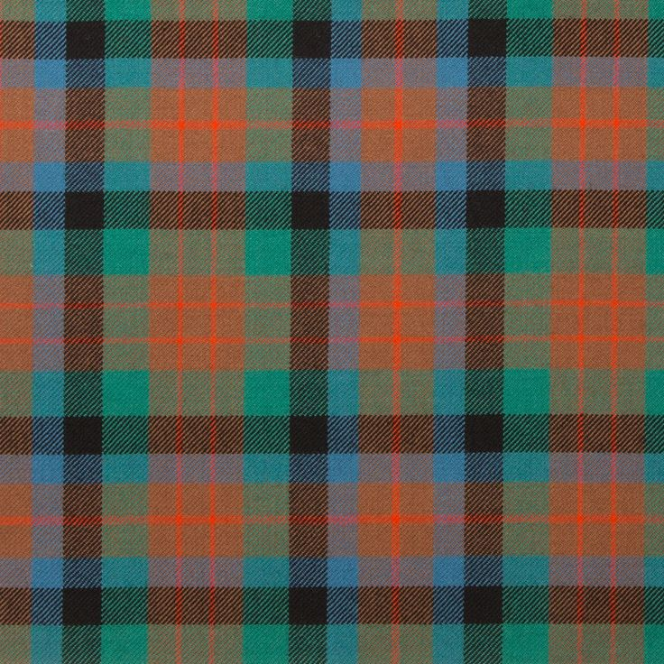"""MacDuff Hunting Ancient Light Weight Tartan. This surname is one of the oldest in Scotland and the clan is said to have descended from the Celtic Earls of Fife. The genealogies of Kings Lulach and MacBeth are headed """"Genealogies of the Clan Duff"""". In an A"""