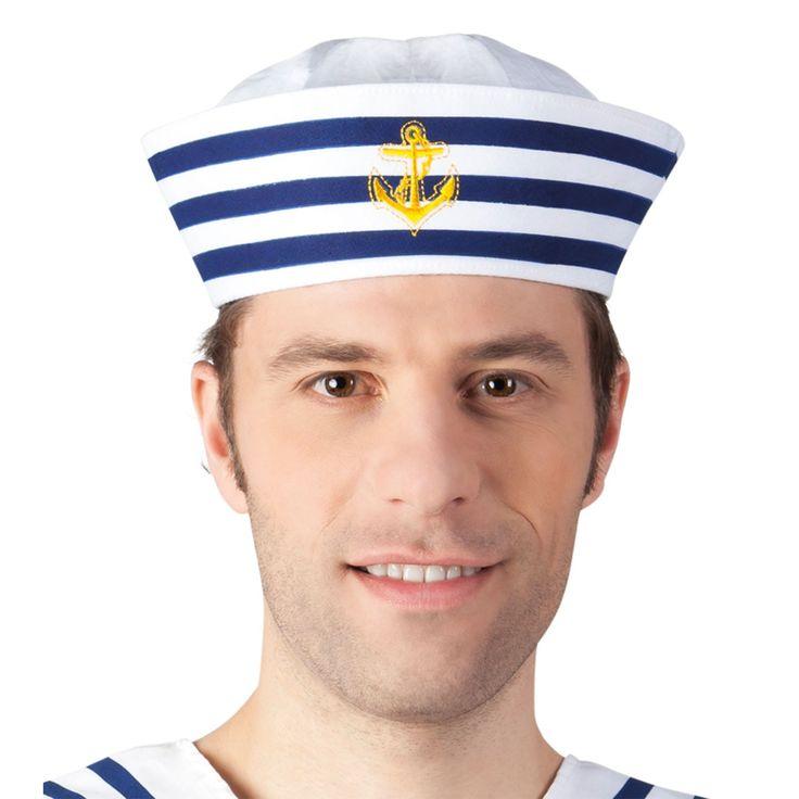 Ga jij verkleed als matroos? Zorg dan ook voor de juiste matrozen pet. De pet is wit en heeft marine blauwe strepen. Het goudkleurige anker, maakt hem net echt! Afmeting: 60 cm, geschikt voor volwassenenLeeftijd: Vanaf 12 jaar - Pet Matroos