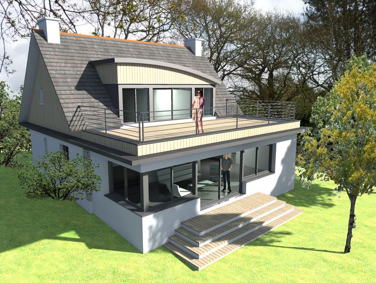 Extension maison avec toit terrasse pk88 humatraffin for Terrasse avec toit