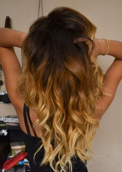ombre hair.. How my hair looked before all the blonde fell out.