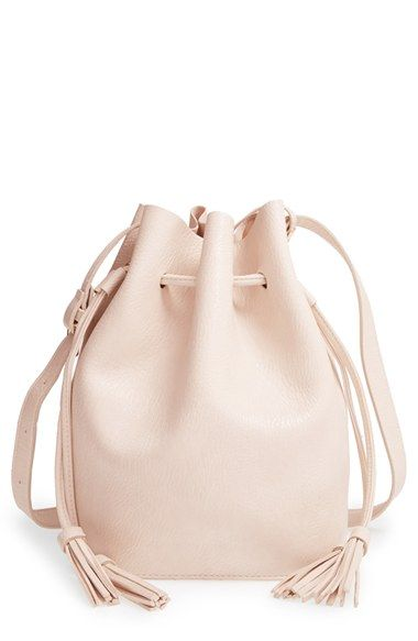 Street+Level+Vegan+Leather+Bucket+Bag+available+at+#Nordstrom