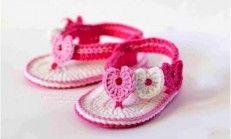 Anlatımlı Örgü Bebek Sandalet Modelleri
