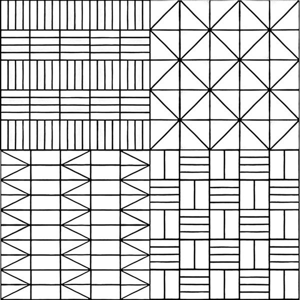 Commune Tile - Modernist geometric pattern