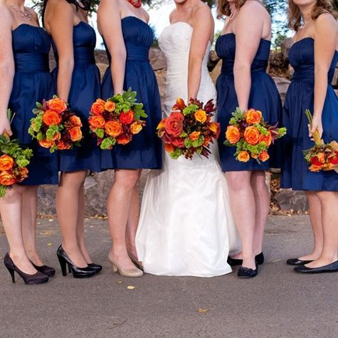 See the contrast with the dresses. What do you think? We would take out all the orange and replace it with pink so it would have a softer look.