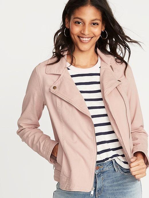 8289d6a176d3 Twill Moto Jacket for Women in 2019   Fashion   Jackets, Moto jacket ...