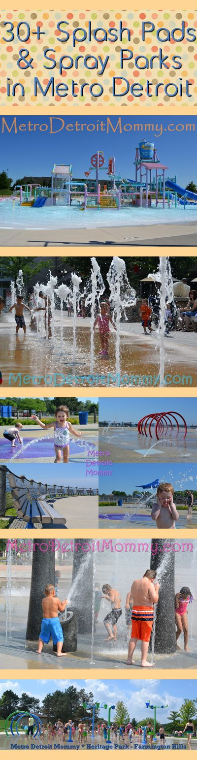 Metro Detroit Mommy: Metro Detroit Michigan Outdoor Splash Pads & Parks