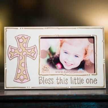 Girl Bless This Little One Frame