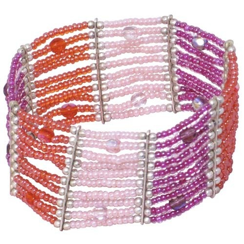 Peachy Perfect Bracelet, made in India - Ten Thousand Villages  #bracelet #beaded