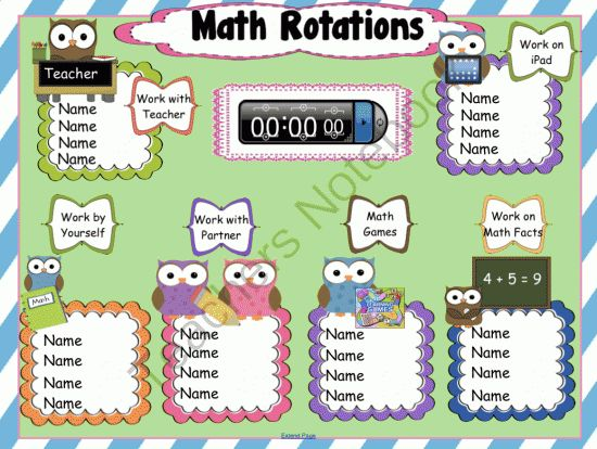 Math Rotations Interactive SMARTBoard from 1 2 3 Interactive Classro on TeachersNotebook.com -  (4 pages)  - If you are looking for a fun way to assign your students to their Math Rotations, you will love this owl themed interactive page complete with embedded timer. You will get detailed instructions for editing this Notebook Software file for SMARTBoards along