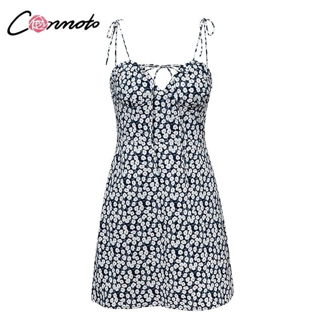 Robe femme cotton summer dress women chic beach party dress lace up mini dress vestidos