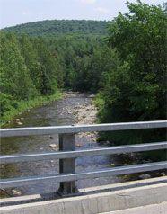 vue sur la rivière Osgood à Kinnear's Mills
