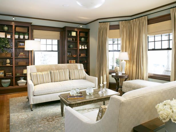 Furniture Arrangement Basics Traditional Living RoomsTraditional HomesBay WindowsLarge