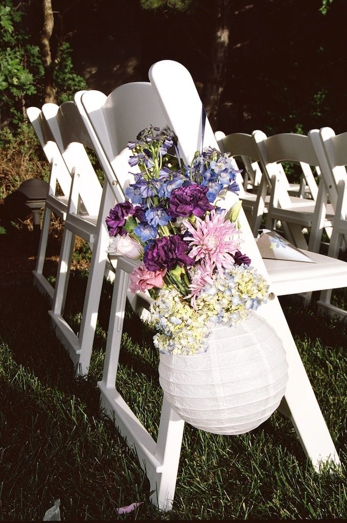 outdoor wedding chair decorations photo via paper lanterns weddings and wedding 6320
