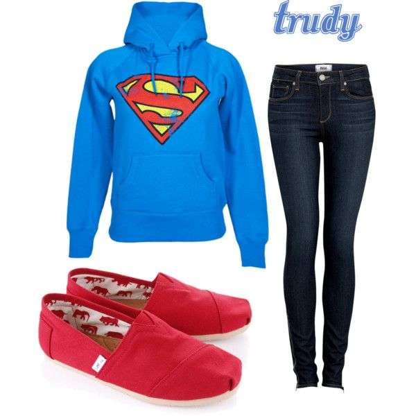 Want the sweatshirt Outfit with TOMS